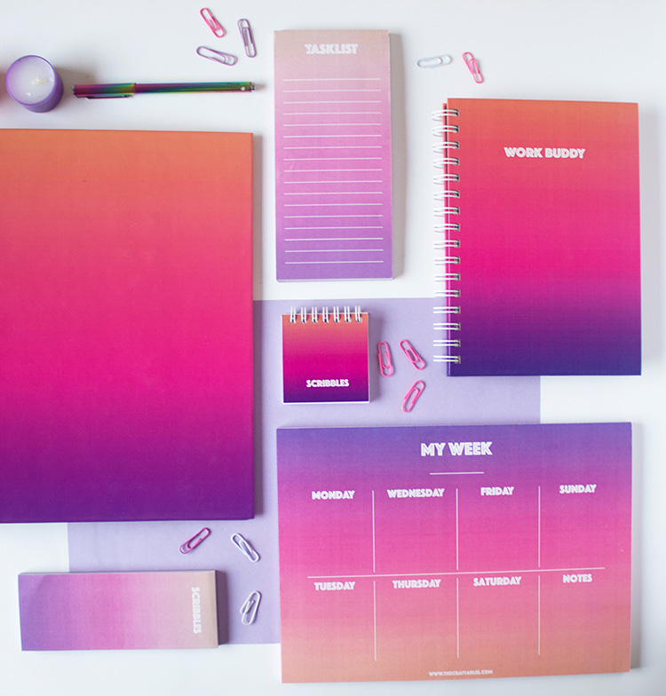 Ombre Stationery Set | Twilight | The Craftables 1