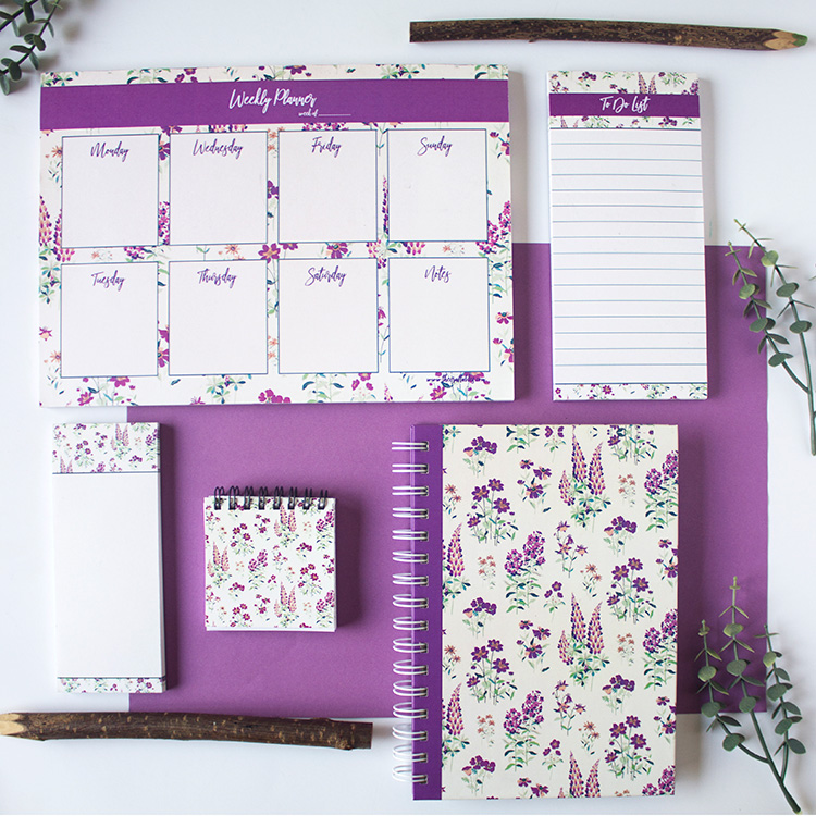 Wallflower Stationery Set | Lavender | The Craftables 1