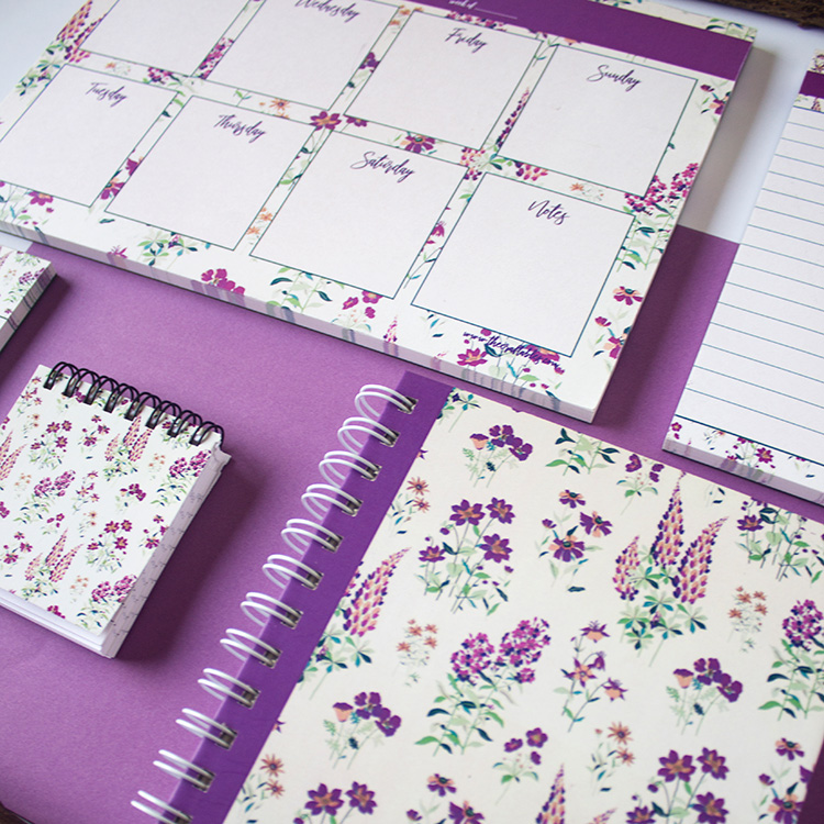 Wallflower Stationery Set | Lavender | The Craftables 2