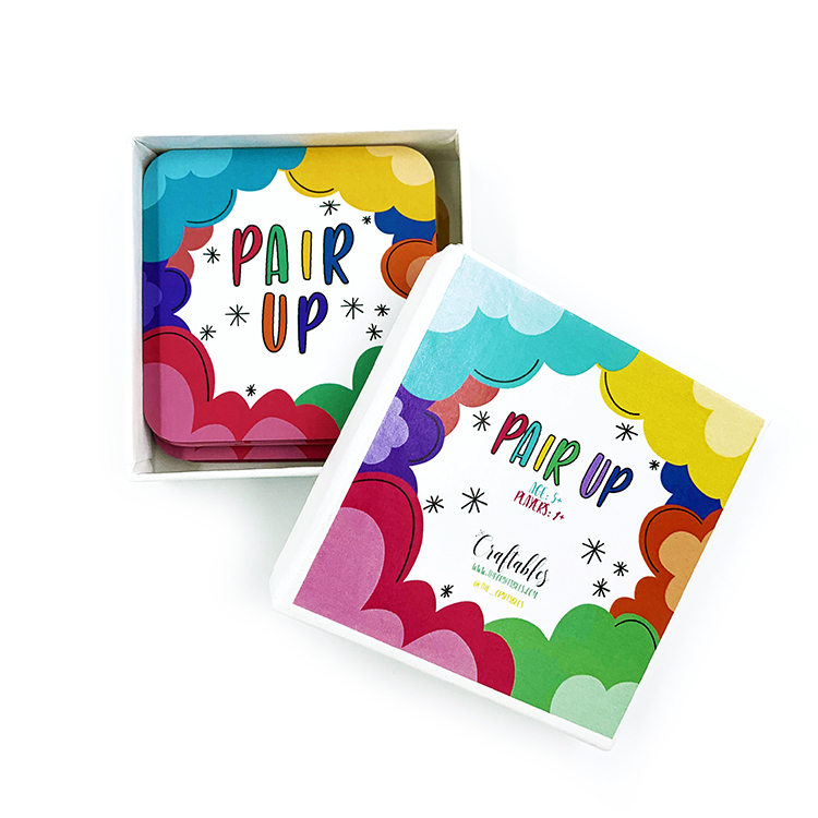 Pair Up Card Game | The Craftables. Teach kids common pairs using this learning tool based matching cards game