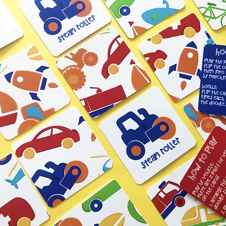 Vehicles Matching Cards | The Craftables cars themed kids game