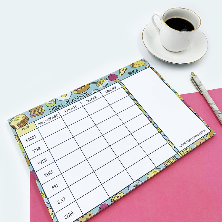 Foodie themed meal planner and recipe book | The Craftables stationery