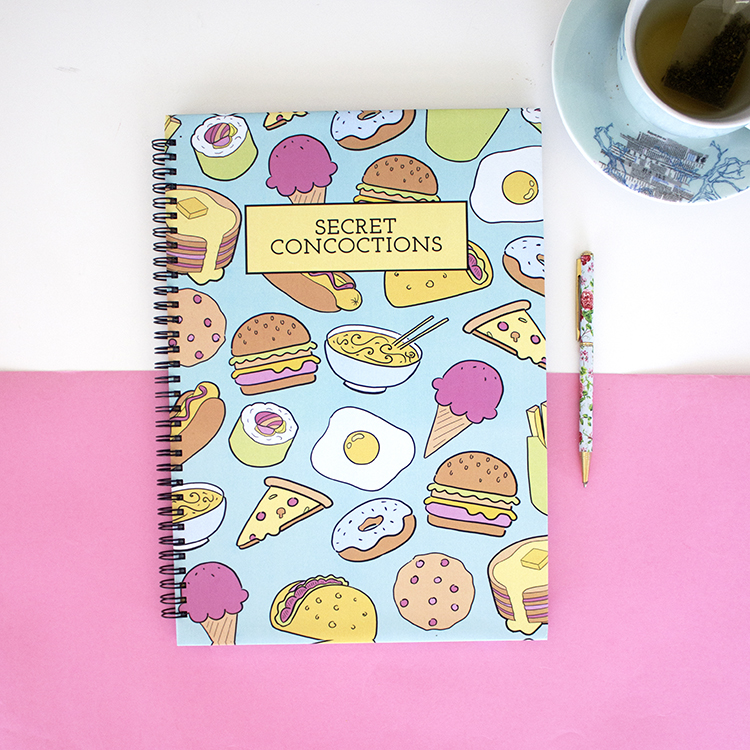 Secret Concoctions Food themed recipe Book | The Craftables
