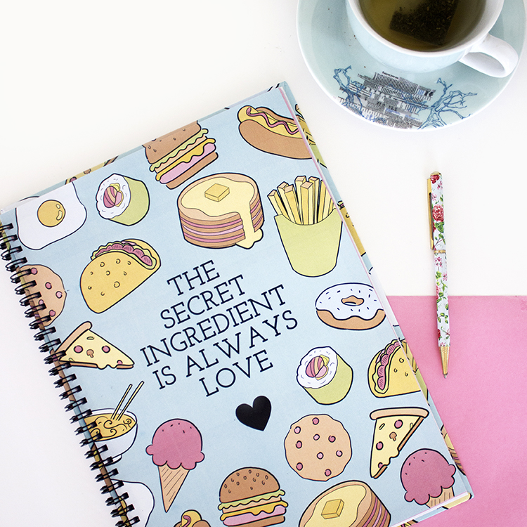 The secret ingredient is always love | Foodie Themed Recipe Book by The Craftables