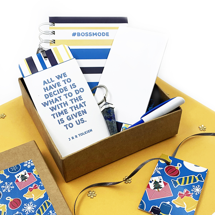 Bossmode Giftset for Christmas Stationery | Gifting ideas for friends | The Craftables