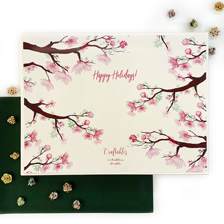 Cherry Blossom Holiday Special Stationery Set | The Craftables stationery gift for girls
