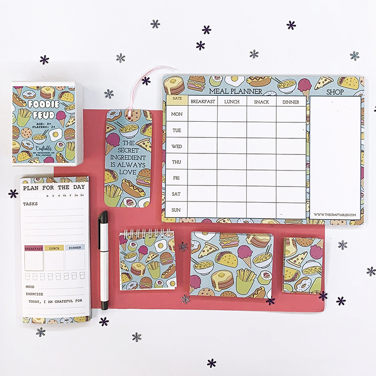 Foodie Stationery Gift Idea | The Craftables
