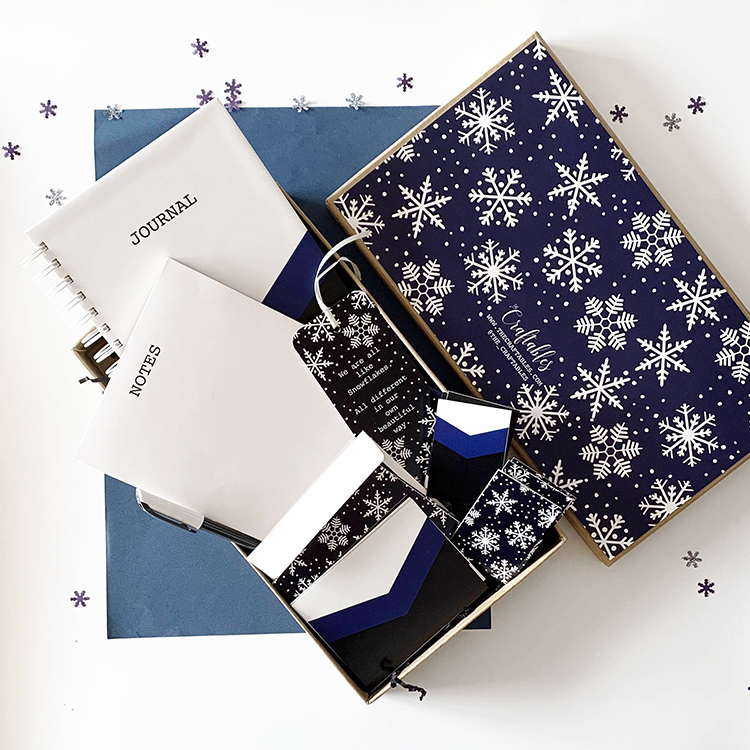Snowflaked Stationery Set for office | Christmas corporate gifting ideas | The Craftables