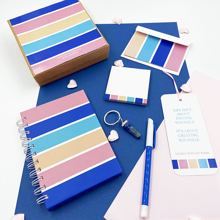 Bold Stripes Stationery Set for Valentine's Day | Colourful gift ideas for husband | The Craftables