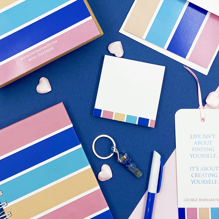 Bold Stripes Stationery Set for Valentine's Day | Gift ideas for boyfriend | The Craftables