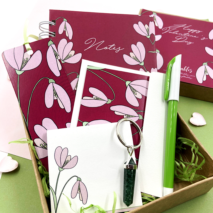 Petals Stationery Set | Customised Valentine's Day gifts for wife | The Craftables
