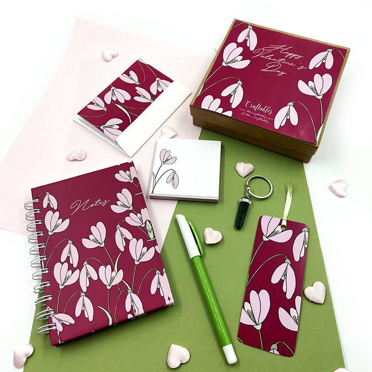 Petals Stationery Set | Valentine's Day gift ideas for girlfriend | The Craftables